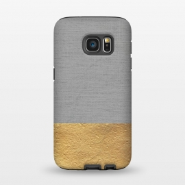 Galaxy S7  Color Blocked Gold and Grey by Caitlin Workman