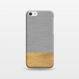 iPhone 5C  Color Blocked Gold and Grey by Caitlin Workman
