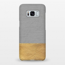 Galaxy S8+  Color Blocked Gold and Grey by Caitlin Workman