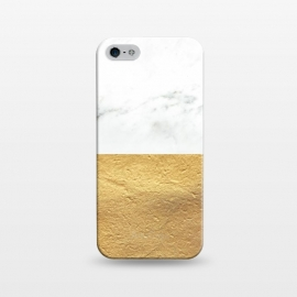 iPhone 5/5E/5s  Marble and Gold by Caitlin Workman