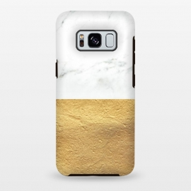 Galaxy S8+  Marble and Gold by Caitlin Workman