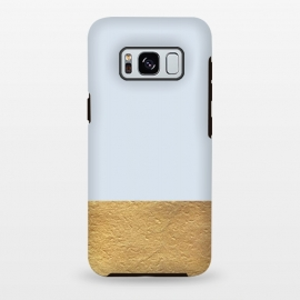 Galaxy S8+  Color Block Light Blue and Gold by Caitlin Workman