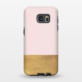 Galaxy S7 EDGE  Color Block Gold and Pink by Caitlin Workman