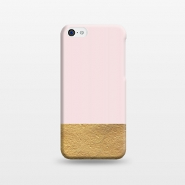 iPhone 5C  Color Block Gold and Pink by Caitlin Workman