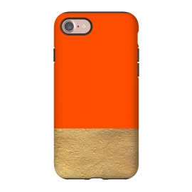 iPhone 8/7  Color Block Red and Gold by Caitlin Workman