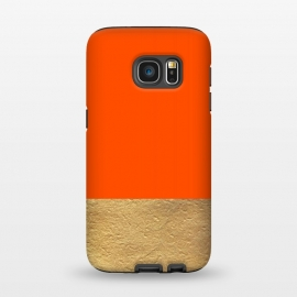 Galaxy S7  Color Block Red and Gold by Caitlin Workman