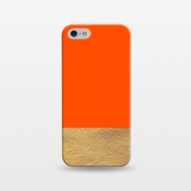iPhone 5/5E/5s  Color Block Red and Gold by Caitlin Workman
