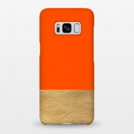 Galaxy S8+  Color Block Red and Gold by Caitlin Workman