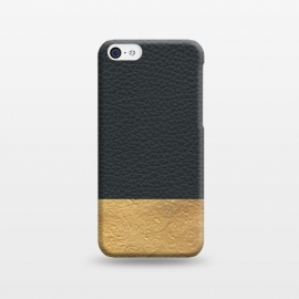iPhone 5C  Leather and Gold by Caitlin Workman