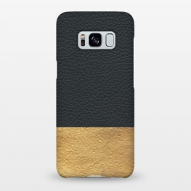 Galaxy S8+  Leather and Gold by Caitlin Workman