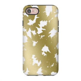 iPhone 8/7  Gold Floral by Caitlin Workman (floral, flowers, pattern, gold, metallic, fashion, style, nature,painting)