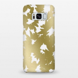 Galaxy S8+  Gold Floral by Caitlin Workman