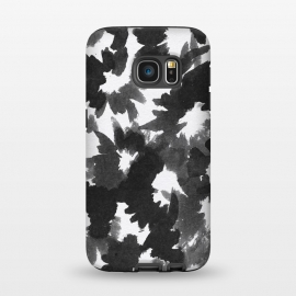 Galaxy S7  Black Floral by Caitlin Workman