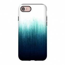 iPhone 8/7  Teal Ombre by Caitlin Workman (ombre, blue, teal, green, fashion, modern, minimal, style, color)