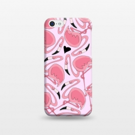 iPhone 5C  Flamingo Love by Alice De Marco