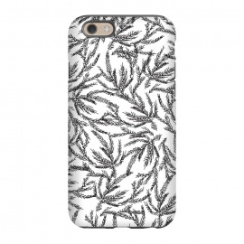 iPhone 6/6s  Black Coral Ferns by Caitlin Workman
