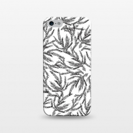 iPhone 5/5E/5s  Black Coral Ferns by Caitlin Workman