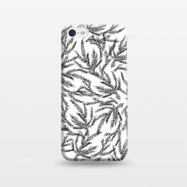 iPhone 5C  Black Coral Ferns by Caitlin Workman