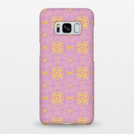 Galaxy S8+  Indian Rose  by Stefania Pochesci (bohostyle,indian,batic,optical,rose,pink)
