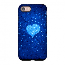 iPhone 8/7  Winter Blue Crystal Heart by Boriana Giormova (heart,love,geometric heart,crystal,crystallized,abstract heart,blu eheart)