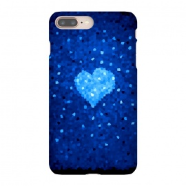 iPhone 8/7 plus  Winter Blue Crystal Heart by Boriana Giormova