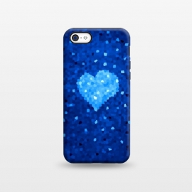 iPhone 5C  Winter Blue Crystal Heart by Boriana Giormova