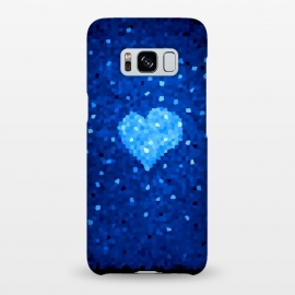 Galaxy S8+  Winter Blue Crystal Heart by Boriana Giormova