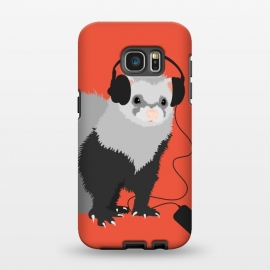 Galaxy S7 EDGE  Funny Music Lover Ferret by Boriana Giormova