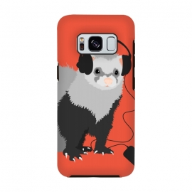Galaxy S8  Funny Music Lover Ferret by Boriana Giormova