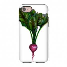 iPhone 8/7  The Radish by ECMazur  (radish,food,veggies,vegetable,watercolor,pen and ink)