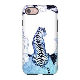 iPhone 8/7  Ombre Tiger Moon by ECMazur  (tiger,moon,luna,mountain,stars,wildcat,cat,animal,nature)