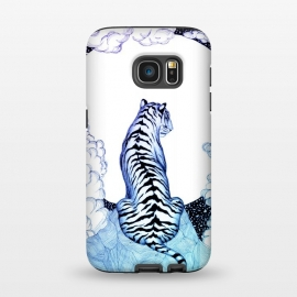 Galaxy S7  Ombre Tiger Moon by Elizabeth Mazur