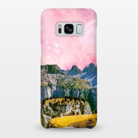Galaxy S8+  Small World by Uma Prabhakar Gokhale (collage, paint filter, paint effect, digital manipulation, nature, landscape, space, pink, mountains, wild, trees)