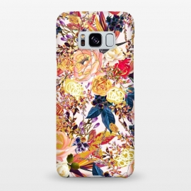 Galaxy S8+  Rustic Floral by Uma Prabhakar Gokhale (graphic design, pattern, realistic, floral, nature, rustic, blossom, bloom, gold, rose, roses, baby pink, navy blue, royal blue, exotic)