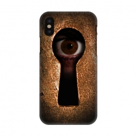 iPhone X  Who is watching you by Nicklas Gustafsson (keyhole,eye,watching,big brother,surveilance,spy,paranoid,conspiracy)