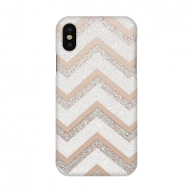 iPhone X  Nude Chevron by Monika Strigel ()