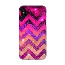 iPhone X  Chevron Water Galaxy by Monika Strigel ()