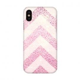 iPhone X  Party Chevron Powder by Monika Strigel ()