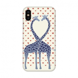 iPhone X  Giraffes in Love a Valentine's Day illustration by Micklyn Le Feuvre ()