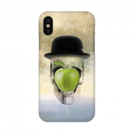 iPhone X  Magritte Skull by Sebastian Parra