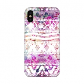 iPhone X  Nebula Flowers Floral by Girly Trend ()