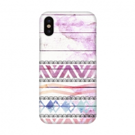 iPhone X  Aztec Wood Watercolor by Girly Trend ()