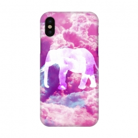 iPhone X  Elephant on Pink Purple Clouds by  ()