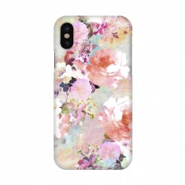 iPhone X  Watercolor Flowers by Girly Trend