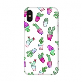 iPhone X  Whimsical Hand Drawn cactus pattern  by  ()
