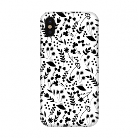 iPhone X  B&W by Dunia Nalu (garden,floral,pattern,nature,black&white,blackandwhite,black,white,b&w)