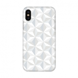 iPhone X  White Geometry by M.O.K. ()