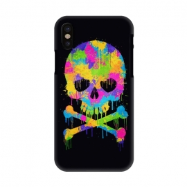 iPhone X  Grafitti Watercolor Skull by Philipp Rietz ()