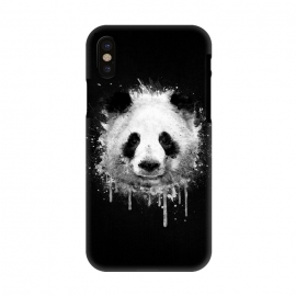 iPhone X  Panda Portrait in Black White by Philipp Rietz ()