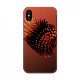 iPhone X  Your Bronze Cyborg Heart by Adoryanti